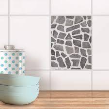 fliesensticker für küche bad design steinmosaik