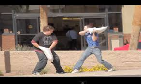 Man Forced Into Pillow Fight With plete Stranger – Video