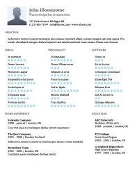 Skills Highlight Resume Template Cv Based