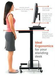 Ergo Elements Standing Desk by Adjustable Height Stand Up Desk Crank Adjustable Height Standing