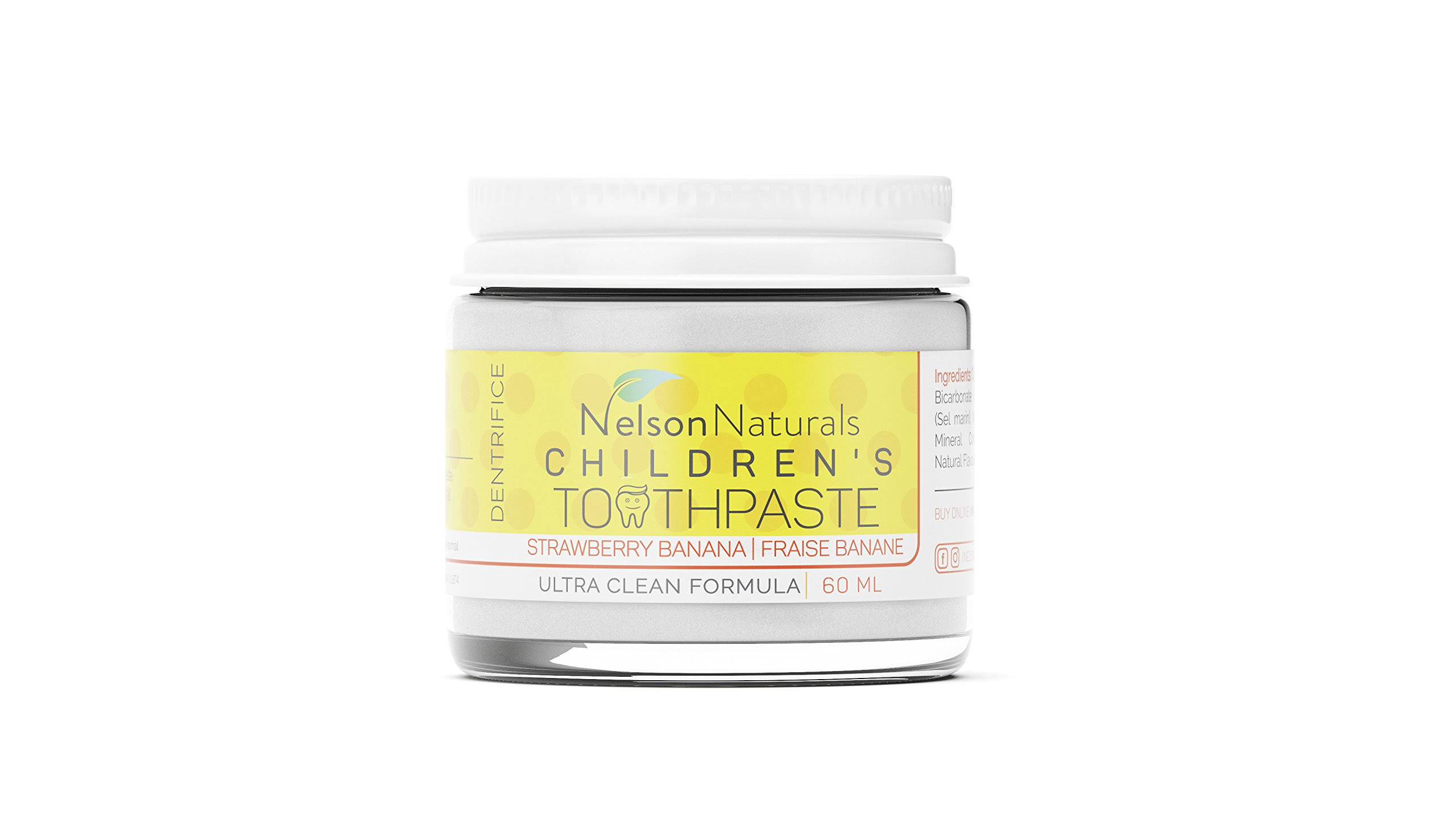 Nelson Naturals Children's Toothpaste Strawberry Banana