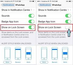 How to Disable Hide WhatsApp Message on iPhone lock screen