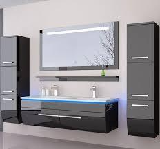 doppelwaschtisch 120 schwarz weiß hochglanz doppel waschbecken badmöbel set bad möbel