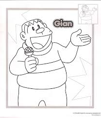 Giant Doraemon Coloring Pages