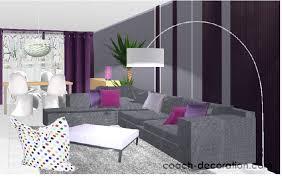 chambre couleur prune et gris quelle déco salon prune déco coussins salon