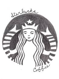 Starbucks Coffee Logo Drawing By WeirdAsianKittyGirl