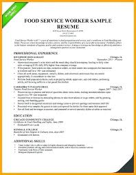 Work Experience Resume Sample Restaurant On Food Service Skills For Worker Server
