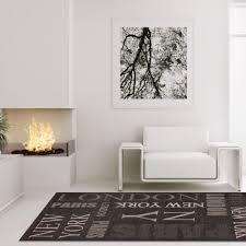teppich modern designer wohnzimmer villa sisal mäander