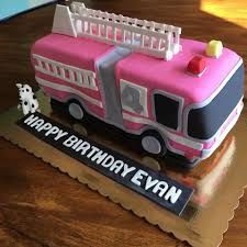 100 Fire Truck Birthday Cake Bakers S Pink Facebook