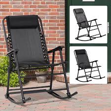 Folding Rocking Chair Outdoor Portable Zero Gravity Chair W ... Outdoor High Back Folding Chair With Headrest Set Of 2 Round Glass Seat Bpack W Padded Cup Holder Blue Alinium Folding Recliner Chair With Headrest Camping Beach Caravan Portable Lweight Camping Amazoncom Foldable Rocking Wheadrest Zero Gravity For Office Leather Chair Recliner Napping Pu Adjustable Outsunny Recliner Lounge Rocker Zerogravity Expressions Hammock Zd703wpt Black Wooden Make Up S104 Marchway Chairs The Original Makeup Artist By Cantoni