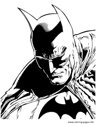 Batman Coloring Book Pages Comic For Teenagers Printable