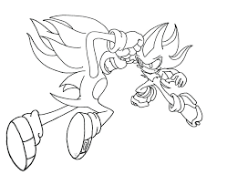Sonic The Hedgehog Colouring Pages To Print Coloring Printable Shadow And Friends Full Size
