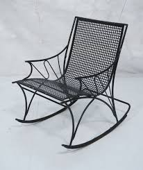 Modernist Black Iron Outdoor Rocker Rocking Chair. Grid Pattern ... 1960s Rocking Chair In Red Plastic Strings On Black Metal Frame Wicker Grey At Home Details About Lawn Rocker Patio Fniture Garden Front Porch Outdoor Fleur Chairs Coffee Table Mesh Rare Salterini Radar Wrought Iron Scrollwork Design Decorative Deck Monceau Chair For Outdoor Living Space Staton Amazonin Kitchen Amazoncom Mygift Dark Brown Woven Metal Patio Rocking Chairs Carinsuncerateszipco Hampton Bay Wood