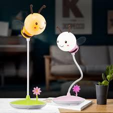 le de bureau usb le nouveau dessin animé abeille led usb de charge tactile le sans
