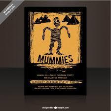 Free Halloween Flyer Templates by Mummies Party Flyer Template For Halloween Vector Free Download