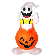 Halloween Blow Up Decorations For The Yard by Joiedomi Halloween Blow Up Inflatable Ghost In Pumpkin Skirt For