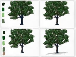 Being selective about where you add your leaves here will give the tree a more realistic look Try making little patches here and there until it starts to