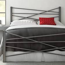 Wayfair Headboards And Footboards by Amisco Crosston Steel Headboard And Footboard U0026 Reviews Wayfair
