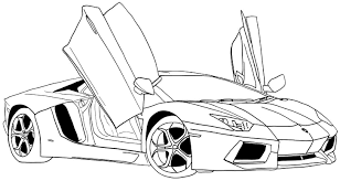 Lamborghini Aventador Coloring Pages Doors Open