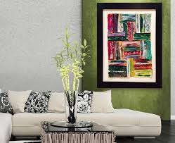Modern Rustic Art Wood Wall Bourbon Street Large Abstract Painting