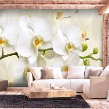 vlies fototapete blumen orchidee groß tapete schlafzimmer