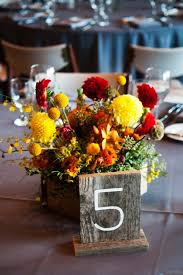 Rustic Fall Camo Wedding Centerpiece And Table Number Ideas