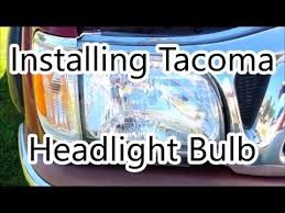 tacoma headlight bulb how to replace 2001 2002 2003 2004 toyota