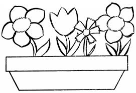 Flower Pot Coloring Page Keevtk