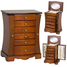 Wooden Jewelry Armoire - Brown – Best Choice Products Decor Lovable Brown Wood Giantex Jewelry Armoire Walmart Cabinet Decorating Luxury Wooden Standing Mirror In Dark Chic Pretty Design Of Perfect Ideas For White Big Lots Framed Wall Or Door Target Box With Necklace Holders The 45 Mounted Lighted Hammacher Schlemmer Gray Walnut With Of Fniture Sears Traditional Antique Cherry Lingerie Chest By Coaster Black Stealasofa Outlet Los