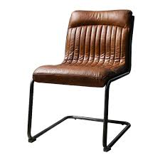Industrial Office Chair Distressed Chocolate Top Grain Leather ...
