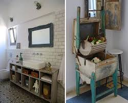 Bathroom Decorating With Recycled Items Outdoor Ideas From Junk