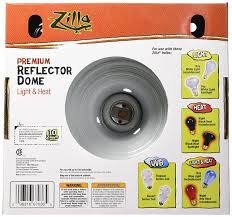 What Heat Lamp To Use For Hedgehogs by Zilla 11596 8 1 2 Inch Premium Reflector Dome For Upto 150 Watt