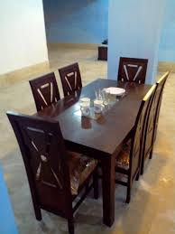 Modern Wooden Top Dining Table