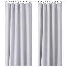 vilborg curtains 1 pair light grey 145x250 cm ikea