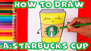 How To Draw A Cute Starbucks Coffee Cup Step By Cartoon Drink