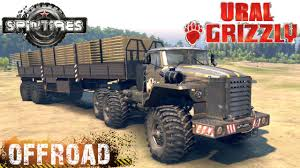 SpinTires Ural Grizzly Truck Off-road Test - YouTube