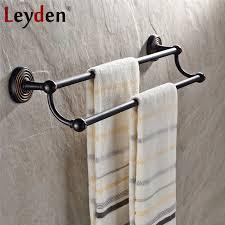 leyden massivem messing antik bronze handtuchhalter handtuchhalter kleiderbügel schwarz bronze wand handtuchhalter bad accessoires