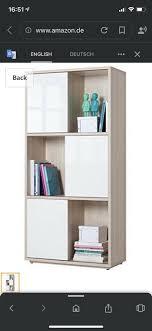 bücherregal 6 schiebetüren schrank büro neu kinder wohnzimmer