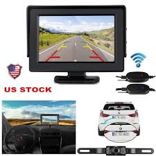 100 Backup Camera System For Trucks 43 LCD Monitor Wireless Vehicle Rear View