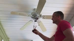Harbor Breeze Ceiling Fan Capacitor Location by Ceiling Fan Won U0027t Run Capacitor Replacement Youtube