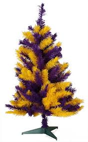 3 Foot LSU Christmas Tree Louisiana State University