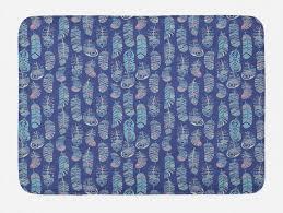 badematte plüsch badezimmer dekor matte mit rutschfester rückseite abakuhaus boho hippie federn illustration kaufen otto