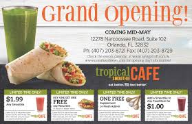 Halloween Horror Nights Florida Resident Publix by Lake Nona Tropical Smoothie Grand Opening Sunday 5 15 At 9 Am