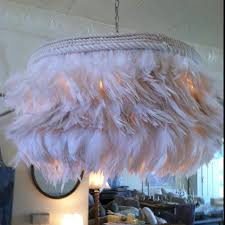 Shabby Chic Pink Feather Chandelier I Need To Make This