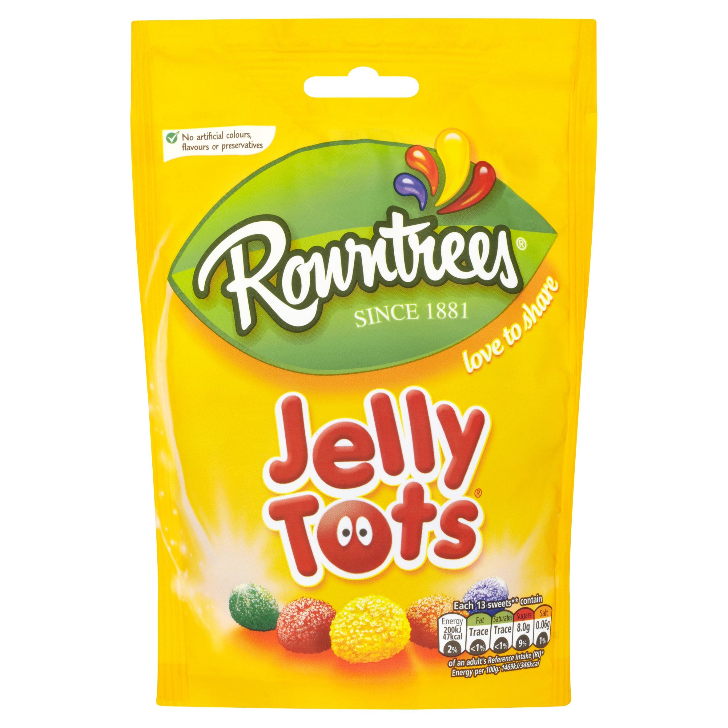 Rowntrees Sweet Jelly Tots - 150g