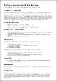 Accountant Resume Sample For Chartered Fresher