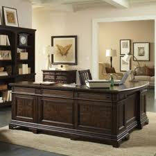 aspenhome essex 66 inch curved executive desk and reversible return