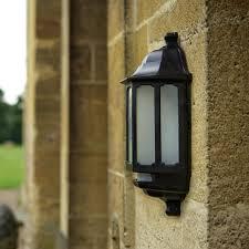 asd hi lo coach led half lantern outdoor wall light with pir