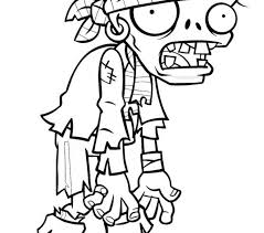 Zombie Printable Coloring Pages