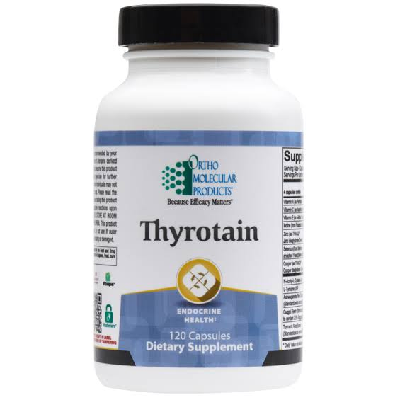 Ortho Molecular Thyrotain Dietary Supplement - 120 Capsules
